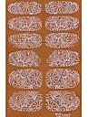 yemannvyou®2x14pcs genomsyrar 3d diamant transparent vit spets nail art ultratunna klistermärken tz057