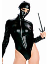 Sexy Black Faux Leather Costume Ninja (1 Pieces)