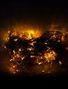 10m 100 led-uri de Crăciun Halloween lumini festive, decorative benzi lumini-ordinare siruri de caractere de culoare galben deschis (220V)