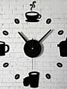 VÄGGUR klistermärken väggdekaler, bar kaffekopp 3d akryl väggdekorationer