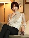 stiluri coreene chaoliu dantelă loong mâneci cămașă de bază