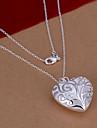Vilin kvinnors silver hjärta halsband