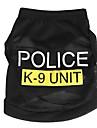 Chat Chien Tee-shirt Vêtements pour Chien Eté Printemps/Automne Police/Militaire Mignon Mode Noir Bleu Rose