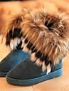 Chaussures Femme - Décontracté - Noir / Bleu / Jaune - Talon Plat - Bottes de Neige - Bottes - Daim