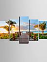 Toiles d'art Coastal Vues Paysage Ensemble de 5