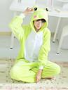 kigurumi Pyjamas Grenouille Collant/Combinaison Fête / Célébration Pyjamas Animale Halloween Vert Mosaïque Polaire Kigurumi Pour Unisexe