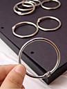 accessoires de bricolage album anneaux métalliques fixés (3 pièces)