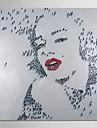 moderne main peinture à l'huile de gens sur toile peinte art marilyn monroe avec cadre étiré chef-d'oeuvre de qualité de musée