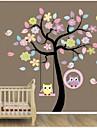zooyoo®removable färgglada träd och ugglor väggklistermärke heminredning dekal konstmålning vägg klistermärke heminredning