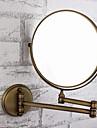 Spegel Antik mässing Väggmonterad 20cm(8inch) Mässing / Glas Antik