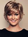 kvinnor lady kort syntetiskt hår peruker med sido bang