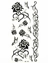 #(1) Tatouages Autocollants Séries de fleur Motif ImperméableHomme Femelle Adolescent Tatouage Temporaire Tatouages temporaires