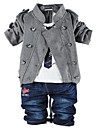 Boys' New Fashion Style Double Row Metal Button Cowboy There-piece Clothing Sets