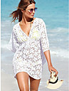 femei v-gât plajă dantelă rochie mini