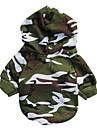 Chat / Chien Pulls à capuche Vert Vêtements pour Chien Hiver / Printemps/Automne camouflage Mode