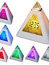 coway 7 conduit couleurs changeantes pyramide en forme numérique réveil calendrier thermomètre veilleuse
