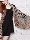 femei leopard moda model de imprimare sifon eșarfă