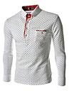 bărbați zian® lui guler standul de moda buline afaceri cu maneca lunga casual, cămașă o