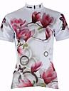 PALADIN® Maillot de Cyclisme Femme Manches courtes Vélo Respirable Séchage rapide Résistant aux ultraviolets Maillot Hauts/Tops100 %