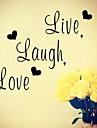 zooyoo® mot PVC amovible de style romantique mignon coloré 57 * 15cm de stickers muraux vente chaude stickers muraux décor à la maison