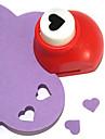 diy skärverktyg mini metal hjärtmönster punch (slumpvis färg)