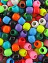 300pcs environ 8x9mm mixte perles nacrées de poney pour les bandes de métiers à tisser arc-en-bracelet accessoires de bricolage