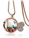 sirène de cristal des femmes baril de collier élégant à la mode