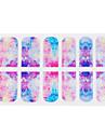 Nyanländ 3D Glitter Tradient Nail Dekal Klistermärken Själv adhensive