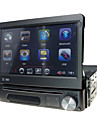 1 DIN löstagbar panel 7 tums bilradion multimedia dvd-spelare med GPS bluetooth ipod atv