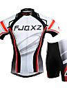 FJQXZ® Cykeltröja med shorts Herr Kort ärm CykelAndningsfunktion / Snabb tork / Vindtät / Ultraviolet Resistant / Dragkedja fram / Bärbar