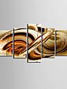 Sträckt Canvastryck konst Abstrakt Sirap Set av 5