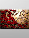 Hand-Painted Floral/BotanicalModern / Traditional One Panel Canvas Oil Painting For Home Decoration