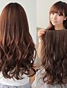 synthétique à longue vague 5 clip-in extensions de cheveux