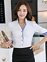 XinYuanGe® Women's Turn Down Collar Long Sleeve Office Lady Shirt