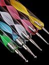 5 pcs vis différents outils d'art taille des ongles double nail art qui parsèment stylo / stylo de peinture