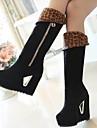 Stövlar ( Svart ) - till KVINNOR - Låga stövlar - med Wedge klack - Fashion Boots/Rundtå/Wedges - i Imitationsmocka