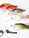 6cm crankbaits 4g wobblers flottants Shad leurres de pêche de rap (1 pc)