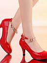 Chaussures Femme - Décontracté - Noir / Rose / Rouge / Beige - Talon Aiguille - Bout Arrondi - Talons - Similicuir