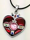 Smycken Inspirerad av Sailor Moon Cosplay Animé Cosplay Accessoarer Halsband Röd Legering / PU Läder Kvinna