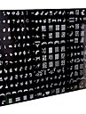 1 styck 250 designen stor nagel konst stämpel stämpling bildmallplatta / spik stenciler (slumpmässigt mönster)