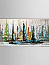 HANDMÅLAD LandskapModerna / Traditionellt En panel Kanvas Hang målad oljemålning For Hem-dekoration