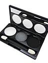 3 Palette Fard à paupières Palette Fard à paupières Poudre Normal Maquillage Quotidien Maquillage de Fête