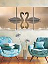 Sträckt Canvastryck Konst Animal Swan Lovers Set av 3