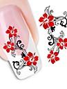 1 Autocollant d'art de clou Autocollant de transfert d'eau Fleur Mariage Maquillage cosmétique Nail Art Design