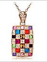 lyckliga docka kvinnors färgstarka cystal temperament halsband