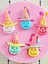 Halloween gâteau citrouille fondant résine de chocolat moule d'argile bonbons de silicone, l8cm * w8cm * h1cm