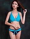 Foclassy® Women's Push-Up Plus Size Bikini Halter Top Underwire Padded Bra