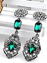 manluo kvinnors legering årgång diamantörhängen