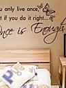 zooyoo®removable färgglada söta mode tecken 3d vägg klistermärke heminredning väggdekorationer för barn / lbed rummet