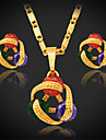 U7 högkvalitativa flera färg hängsmycke halsband örhängen som